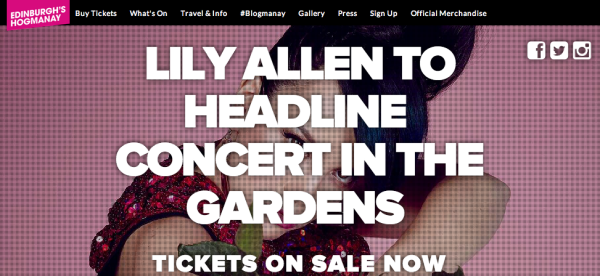 Lily Allen in Edinburgh